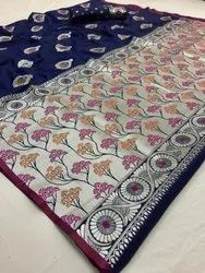 Formal Wear Soft Silk Sarees, 6 M (with Blouse Piece)