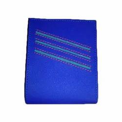 Royal Blue Leather Mens Wallet