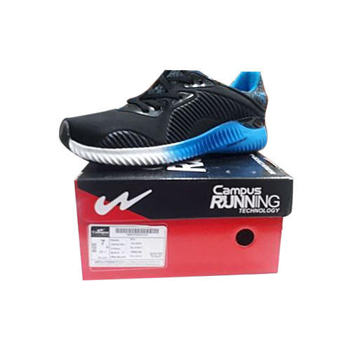 Campus Black And Sky Mens Running Shoes