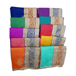 Wedding Wear Embroidered Bhagalpuri Saree, Length: 5.5 m