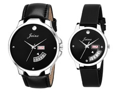 Black Day And Date Couples Watch