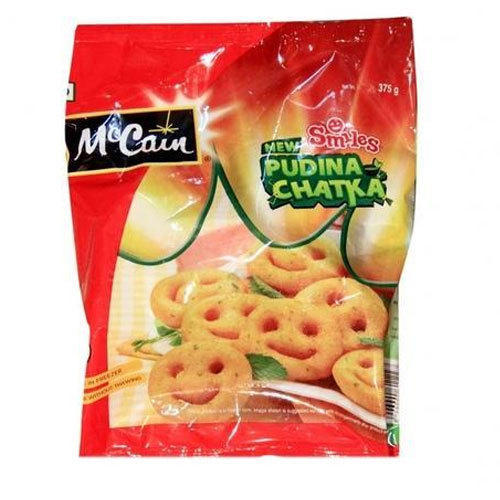 McCain Smiles Pudina Chatka Crispy Potato, Packaging Type: Pouch, Packaging Size: 375 g