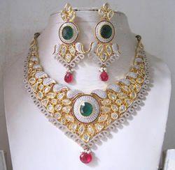 American Diamond Necklace Set JNS 784-1650