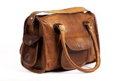 SKH Brown Ladies Leather Handbag