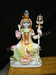 Shiva God Marble Statue