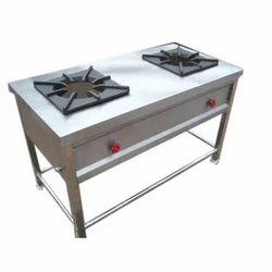 Steel Two Burner Cooking Range