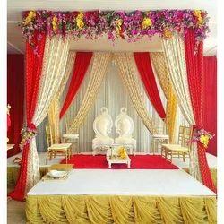 Multicolor Decorative Wedding Stage
