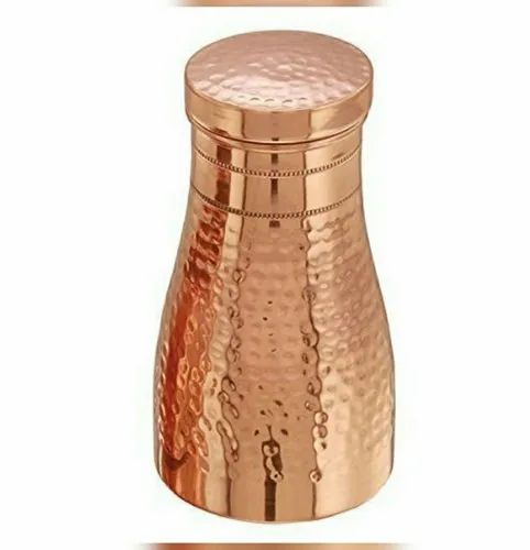 Brown Hammered Copper Jar Or Sugar Pot, For Home, Capacity: 1.2 Litres