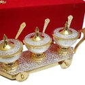 German Silver Ice Cream Set