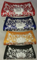 Black silk Ladies embroidered Purse