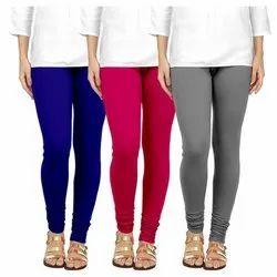 Plain Churidar Ladies Cotton Legging