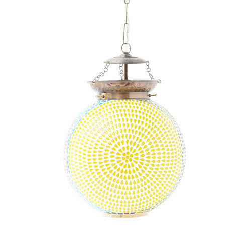 CFL Glass Decorative Hanging Mosaic Lamp, Model: CKML216