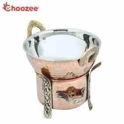 Choozee - Steel Copper Food Warmer with Kadhai - 800 ML