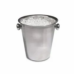 Silver Stainless Steel CP Ice Pail, Packaging Type: Box