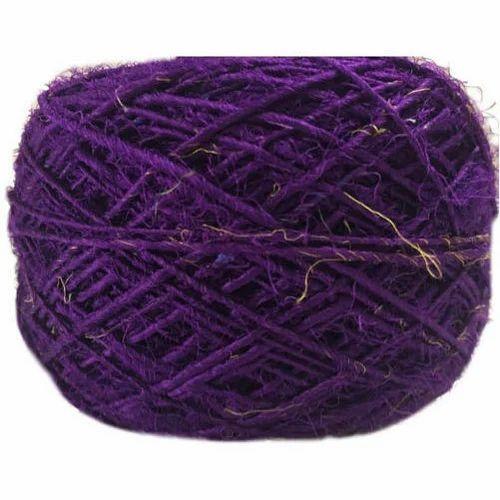 Purple Recycled Sari Silk Yarn
