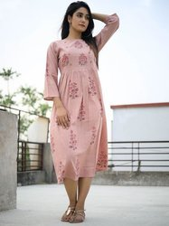 Cotton Floral Printed Long Kurti