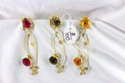 Simple Artificial Stone Earring