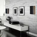 PVC 3D Brick Grey White Foam Thick Vinyl Wallpaper 10 meter roll