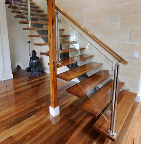Wood and Glass Staircase Railings, Rs 1500 /rft Acme ...