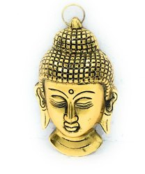 Bharat Handicrafts Gold Plated Buddha Face Hanging