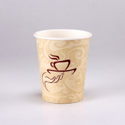 Natural 100 Ml Printed Paper Glass