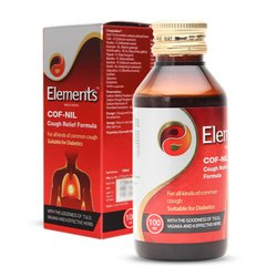 Plastic Red Elements Wellness Cof-NIL Syrup, For Dry Cough, Bottle Size: 100 ml