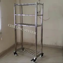 Stainless Steel Hospital Trolley, Load Capacity: 50-100 kg