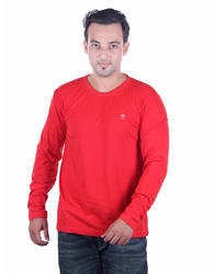 Cotton Casual Wear Full Sleeve T-Shirt for Men