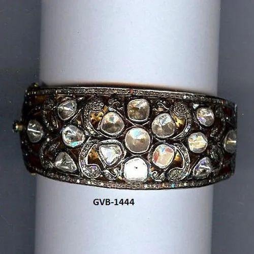 d5d502afa47 Round 925 Sterling Silver Double Cut Diamond Bangle/Bracelet, Rs ...