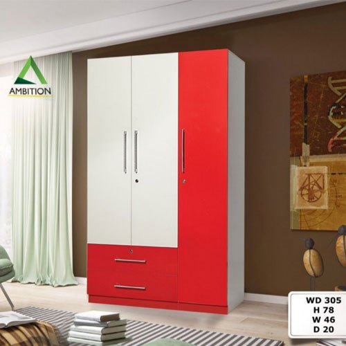 Ambition Mdf 3 Door Wardrobe Rs 25610