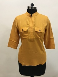 Solid Colour Rayon Top