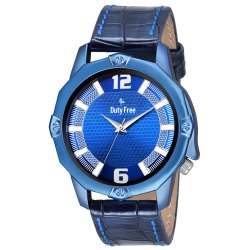 Blue Gents Leather Watch