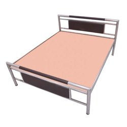 Glossy Finish Designer Stainless Steel Bed