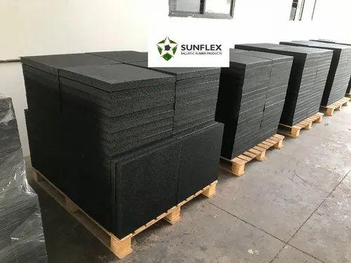 Basic Black Sunflex Rubber Ballistic Rubber Tiles