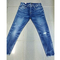 Tapered Fit Trendy Denim Jeans, Waist Size: 34