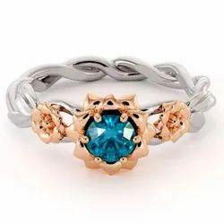 Moissanite Diamond 92.5 Silver Ring