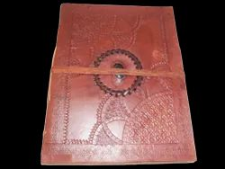 Handmade Leather Journal with Stone