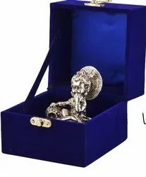 Silver Plated Laddu Gopal With Velvet Box Best Gift For Silver Jubliee Function