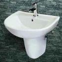 Zygo Half Pedestal Wash Basin