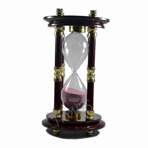 Brown Nautical Wooden Sand Timer, Size/Dimension: 10 Inch Approx