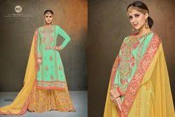 Round Neck Sarara Salwar Suit