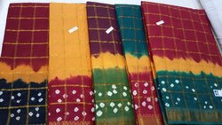 Cotton Gharchola, Length: 6.3 m with Blouse Piece