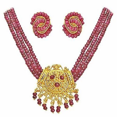 Ruby beads necklace set necklace set raghavendra pearls ruby beads necklace set aloadofball Gallery