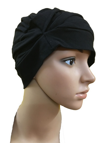 BLACK COTTON CAPS CHEMO BEANIES CANCER CAPS WOMEN SUMMER CHEMO CAPS SLEEP  TURBAN FOR WOMEN CAPS f390a58a917