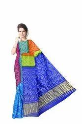 All Over Multi Color Gaji Silk Bandhani Saree