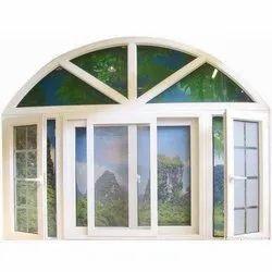 Sliding White UPVC Window, Glass Thickness: 4.5 Mm