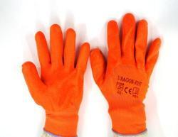 Orange Nylon Shell With Orange PVC Three Fourth Dipped Gloves