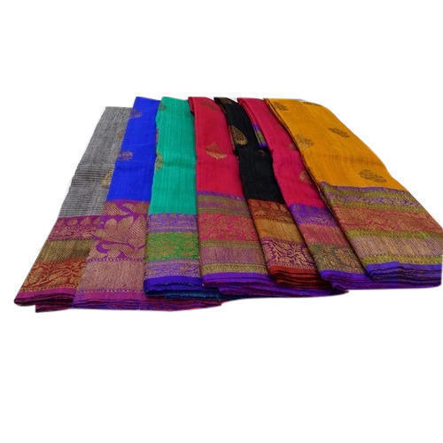 Printed Bridal Wear And Wedding Wear Pure Cotton Saree