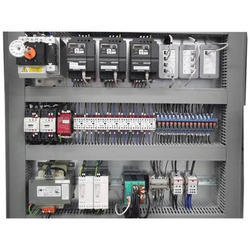 Mild Steel sheet Three Phase Electronic Control Panel, For Industrial, for PLC Automation