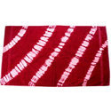 Printed Pink And White Bath Towel
